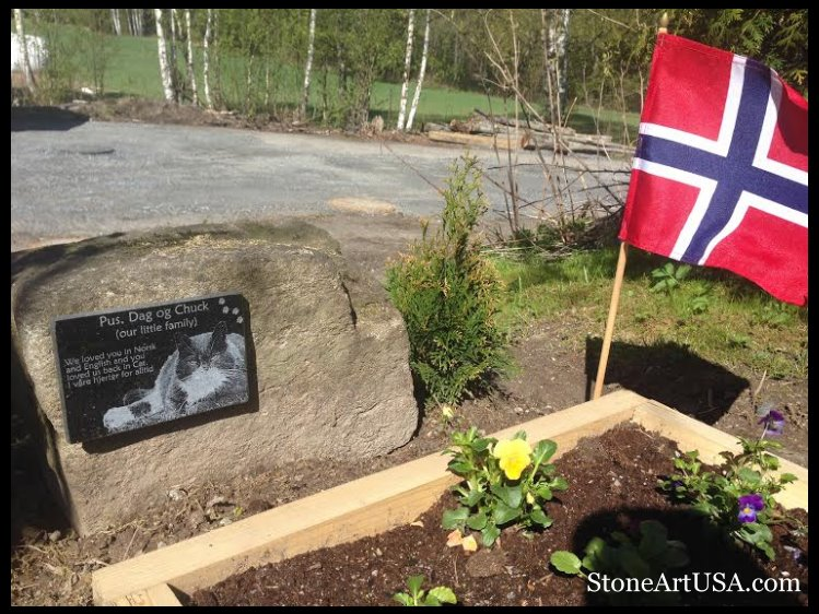 pet memorial garden in Norway