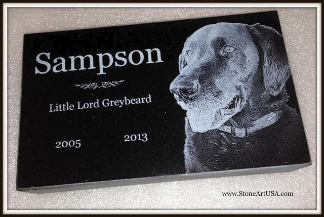 pet memorial by www.StoneArtUSA.com