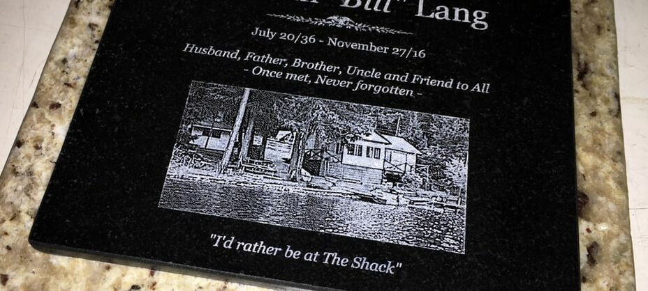 laser etched granite memorial marker